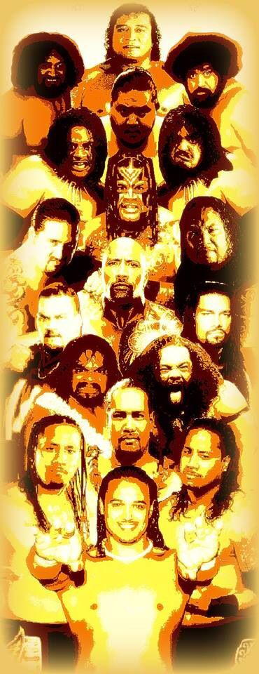 The great Anoa'i family Pictured from top: High Cheif Peter Maivia, Afa, Sika…