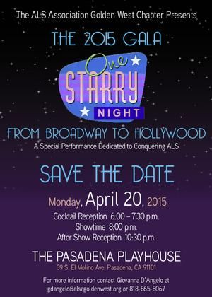 ONE STARRY NIGHT Benefit to Conquer ALS Comes to Pasadena Playhouse, 4/20