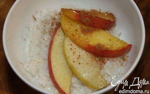 Как приготовить рисовая каша с яблоками, медом и корицей