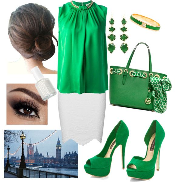 Green with a little bit of White;)