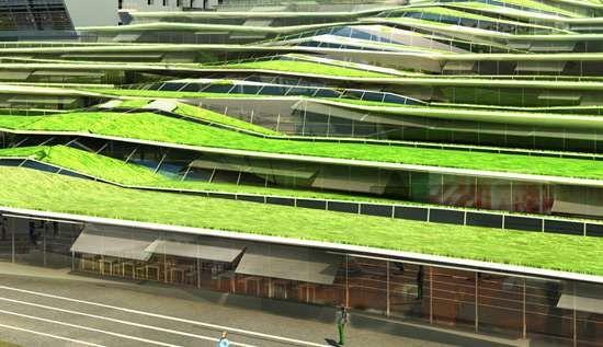 OFF Architecture's Eco-Friendly Jean Moulin Hides in the Hills #architecture trendhunter.com