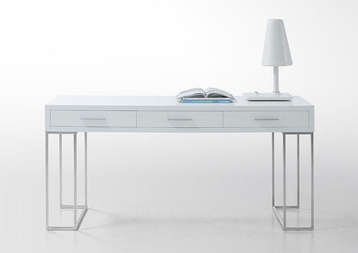 modern white office furniture. sheldon modern white lacquer desk office furniture