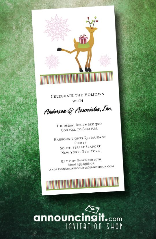 89 best Christmas and Holiday Invitations images on Pinterest - business event invitation