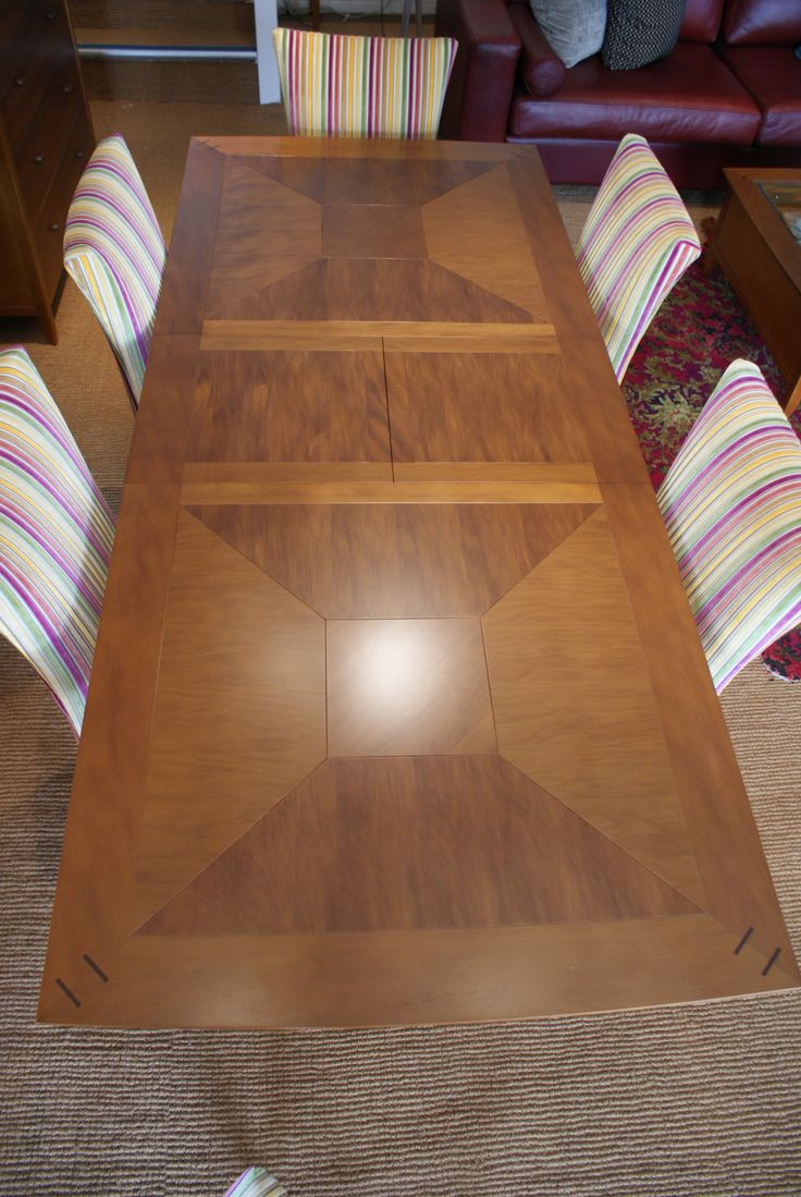 Rose and Heather Parquet Extension Table