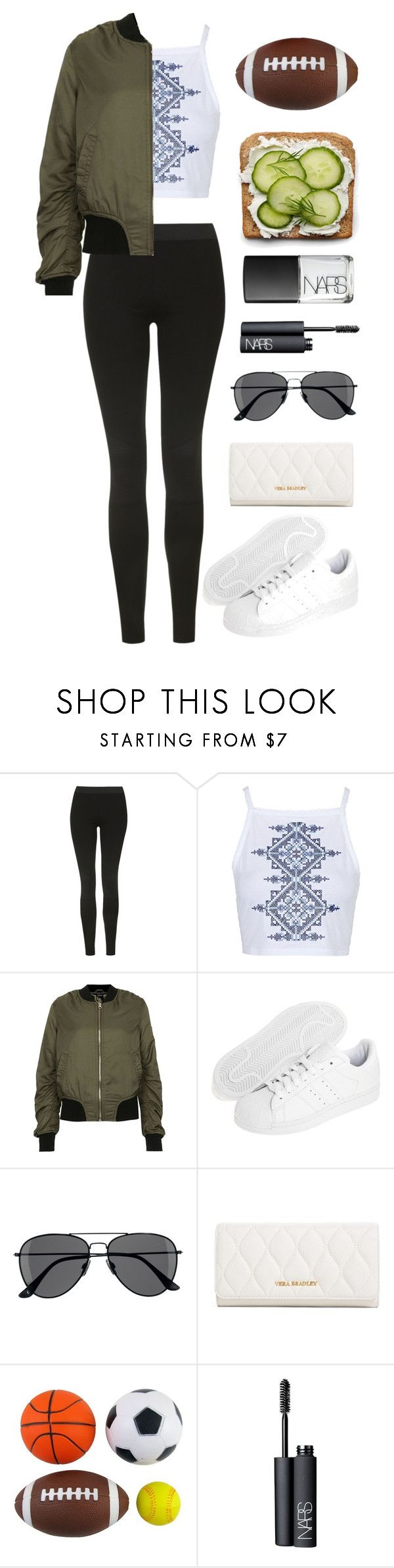 """""""Outfit for football game"""" by yingtango ❤ liked on Polyvore featuring Topshop, adidas Originals, H&M, Vera Bradley and NARS Cosmetics"""