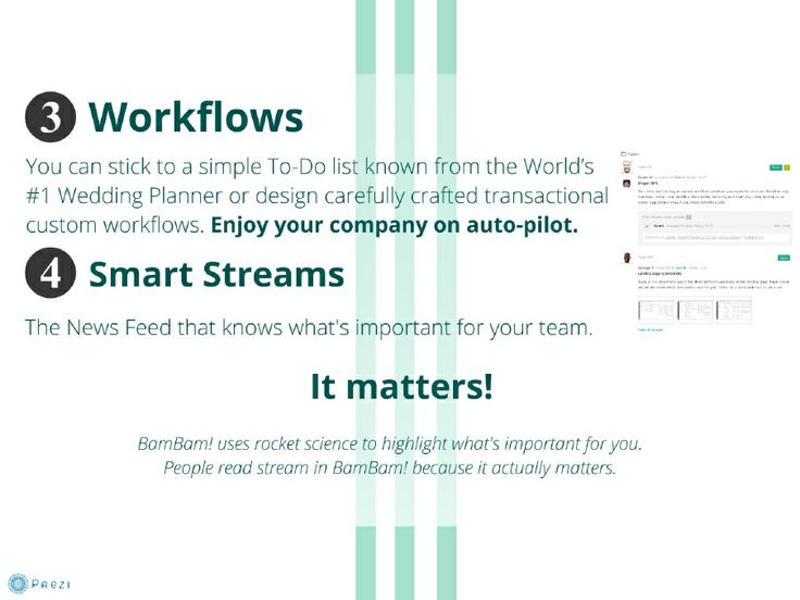 You can stick to a simple To-Do list known from the World's #1 Wedding Planner or design carefully crafted transactional custom workflows. Enjoy your company on auto-pilot.