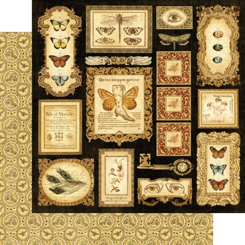 """""""Parlor Wall"""" from our new collection """"Olde Curiosity Shoppe!"""" #newcollection #graphic45 #CHA"""