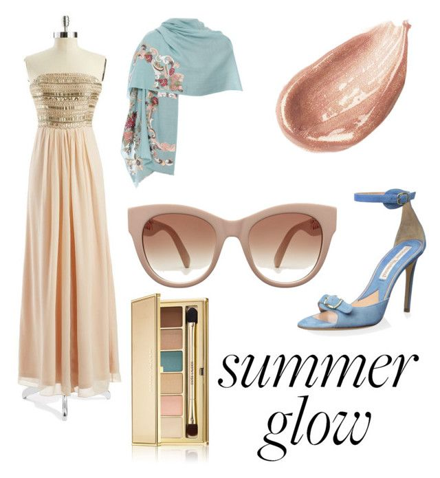 """Summer Glow"" by perfectscreenvixen ❤ liked on Polyvore featuring beauty, Aidan Aidan Mattox, Janavi, Vivienne Westwood, Jouer and Estée Lauder"