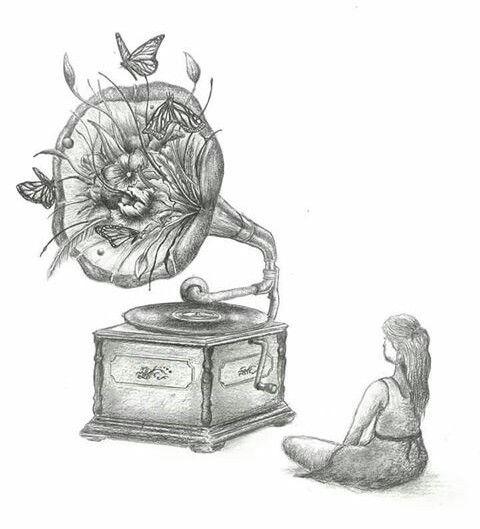 'Growth of Sound' pencil illustration #drawing #art #fairytale #illustration