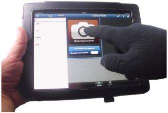 Handschuhe Smartphone -  Nun auch mit Handschuhen auf dem Smartphone bzw. Tablet tippen können. Smartphone Handschuhe halten warm und Sie können in Ruhe weiter im Internet surfen bzw, Ihr Gerät bedienen.