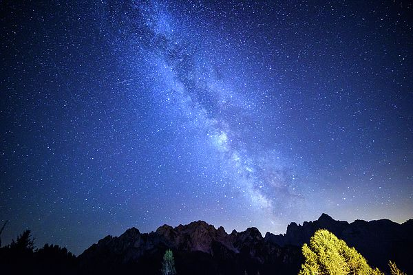 Night Of Falling Stars. Milky Way Night. Dream.