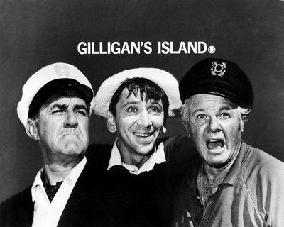 Gilligan's Island (1964-1967) starring Jim Backus, Bob Denver, and Alan Hale, Jr.