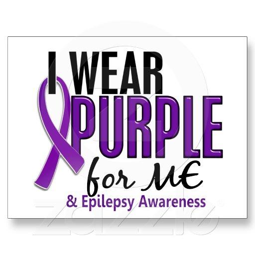 I Wear Purple For ME 10 Epilepsy Post Cards