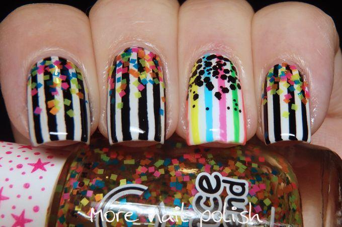 Stripes and confetti glitter