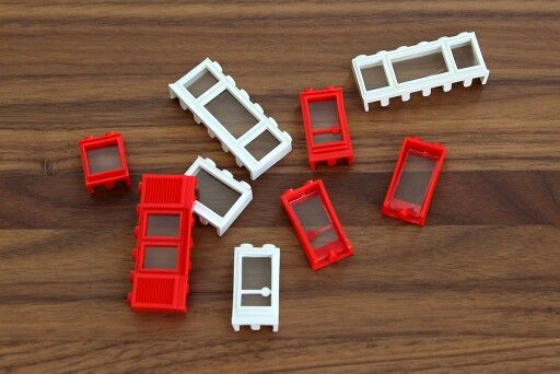 Vintage Lego door and window pieces