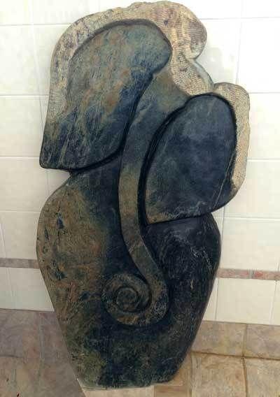 Elephant love African Shona sculpture