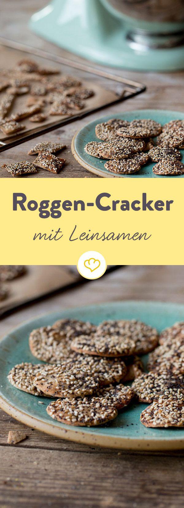 Knuspersnack mit gesunden Leinsamen - ganz einfach für dich zum Nachmachen zu Hause. Probier es gleich aus!