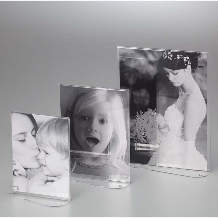 Portafoto in plexiglas Verticale Bifacciale STRASS O per foto 10x15 - 10x6xh15 cm cornice plexiglas trasparente   Vesta   Stilcasa.Net: Portafoto