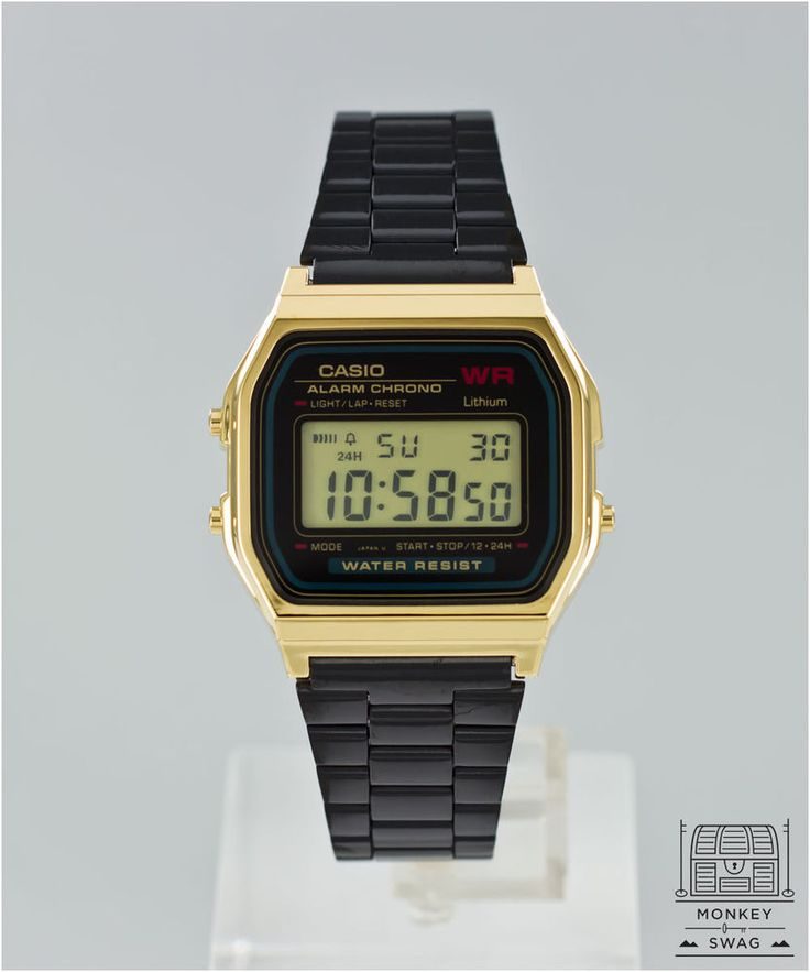 Casio Gold Classic Watch   ★Rare Onyx Black & Gold★ Customised SPECIAL EDITION #Casio