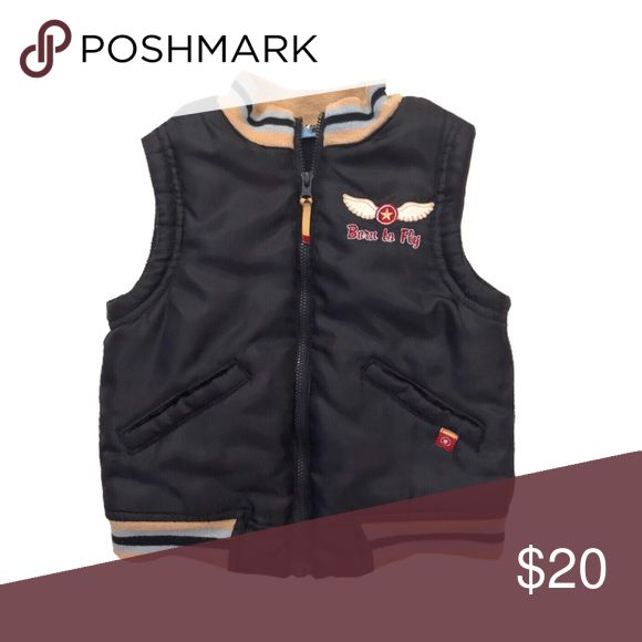 Fifth Gear Born To Fly Puffer Vest Outerwear A streamlined silhouette and fleece insulation make this lightweight vest perfect for layering, while the Born to Fly patch sets it apart. A high stand collar with brushed lining adds a cozy finish. Front zip closure Slant hand-warmer pockets Fifth Gear Jackets & Coats Vests