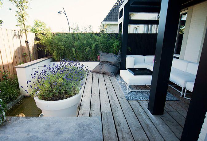 Tuinontwerp tuinaanleg tuinonderhoud eigentijdse achtertuin in - Eigentijdse landscaping ...