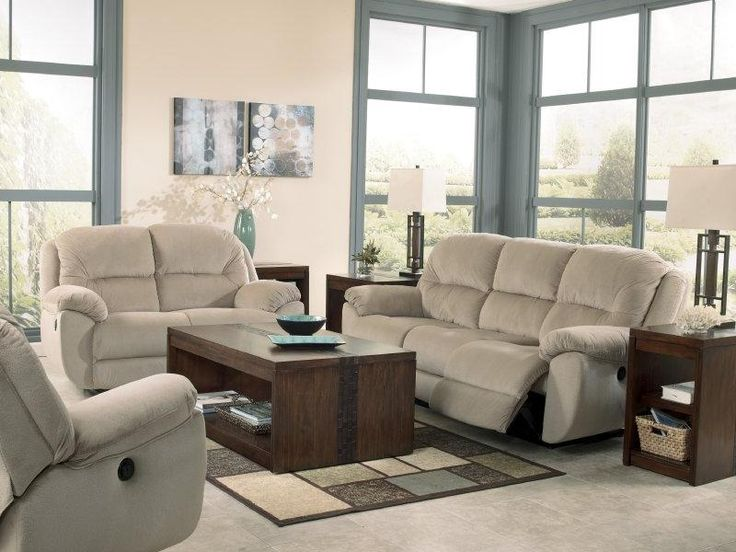 Living room ashley maytime putty 17900 with the for Plush living room furniture