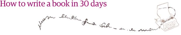"""Emma Donoghue talks about a day in her writing life + link to """"How to write a book in 30 days""""."""