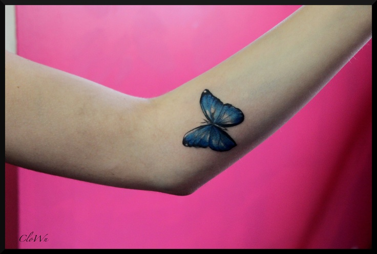 Blue morpho butterfly tattoo - photo#9