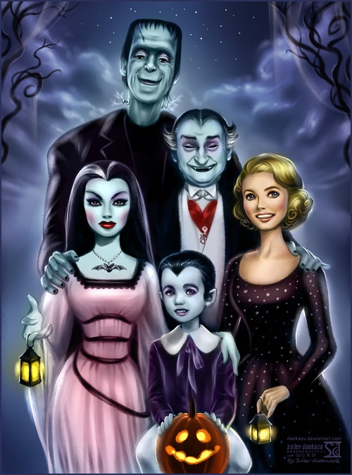 daekazu:  Another Creepy Family - The Munsters!Demonic Lily, her husband Herman, Grandpa, little Eddie and sweet Marilyn.Based on promo picture with original cast.