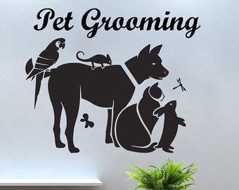 Grooming Salon Wall Decor offerte huisdier het door VinylDecals2U