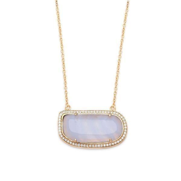 Stone Slice Necklace-Blue Lace Agate – MELANIE AULD JEWELRY