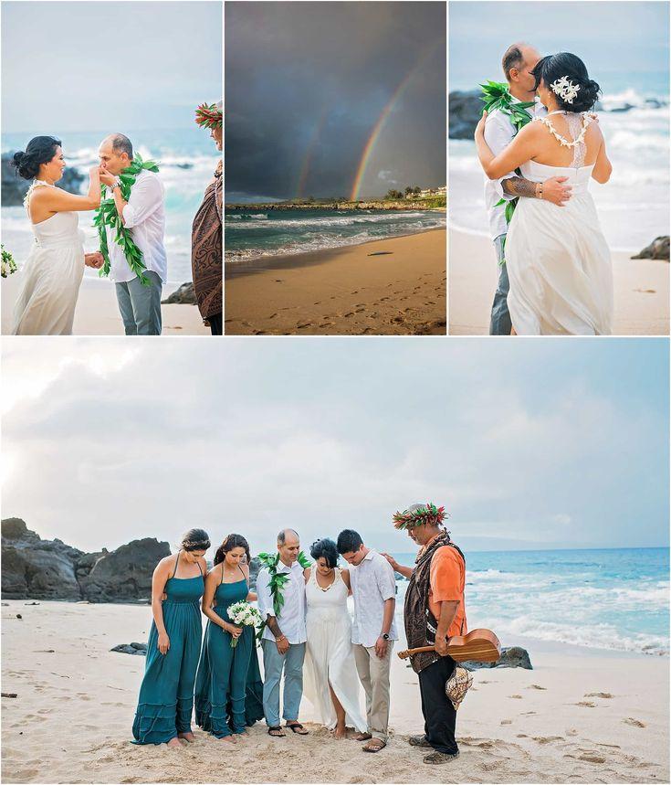 61 best hawaiian weddings images on pinterest milan vacations hawaiian beach wedding ceremony junglespirit Images