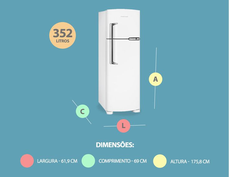 Geladeira / Refrigerador Brastemp Frost Free Clean BRM39 352L Branco - Americanas.com