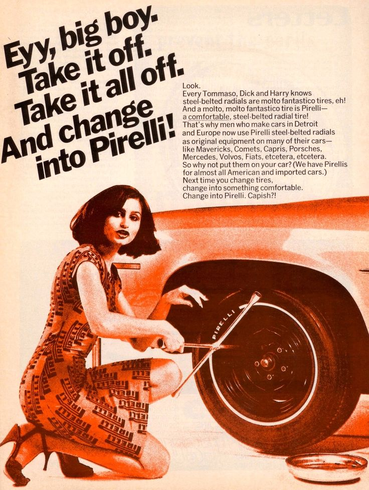 Pirelli ad...and get this, its with a woman!