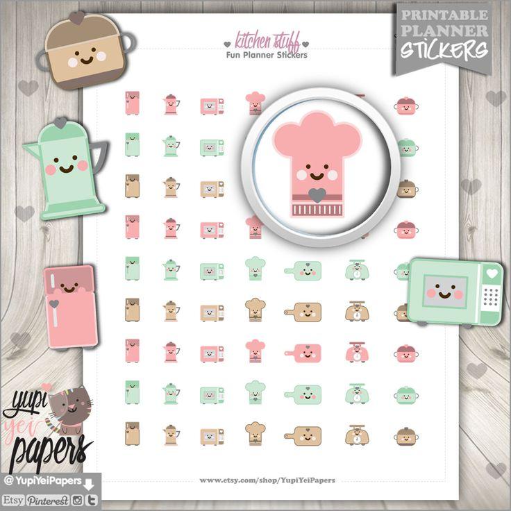 Kitchen Stickers Kitchen Stuff Stickers Baking Stickers Cooking Stickers Bake Stickers Home and Kitchen Planner Stickers Microwave (1.50 USD) by YupiYeiPapers