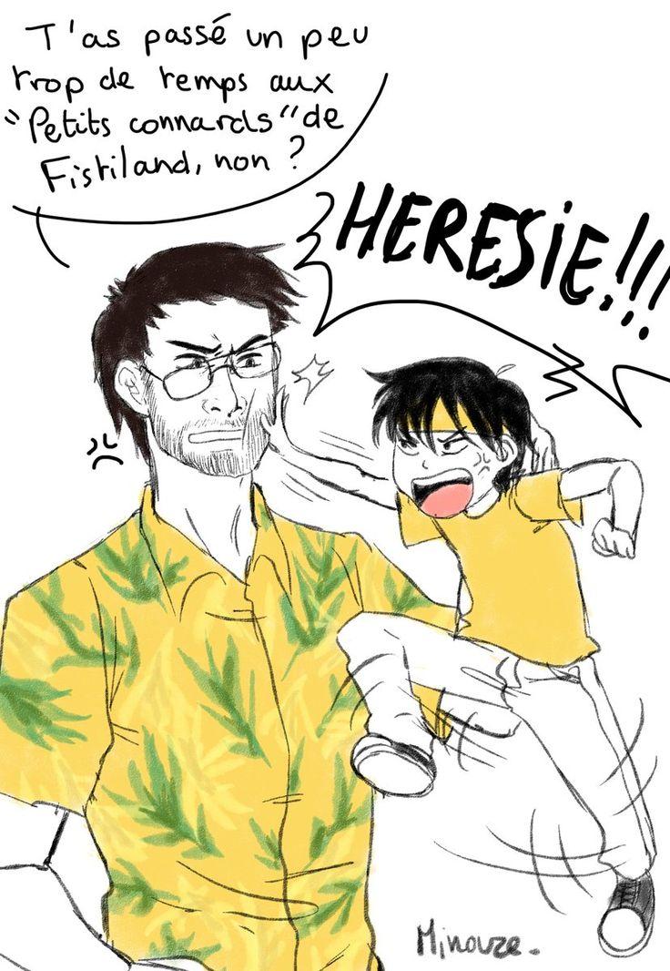 Papa Fred et bébé Théo