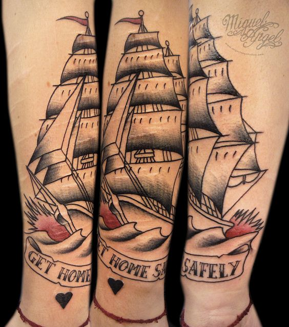 Another ship tattoo, a bit more traditional: Classic Tattoo, Sailors Jerry, Tattoo Sailors, Jerry Ships, Google Search, Neat Ideas, Andy Tattoo, Arm Tattoo, Pirates Ships Tattoo