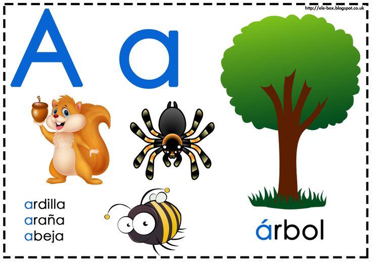 Asociamos los sonidos con las grafías convencionales - Letra a - La pedagogía Montessori divide las vocales y consonantes en dos colores: azul y rojo/rosa.