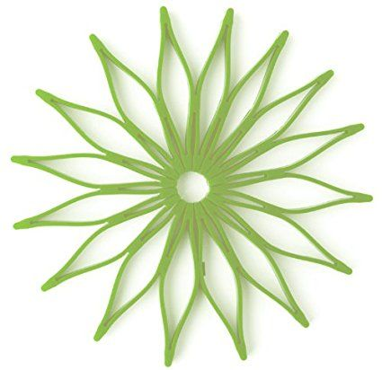 Blossom Multi Purpose Flower Shaped Silicone Trivet, Hot Pad And Coaster;  8.75