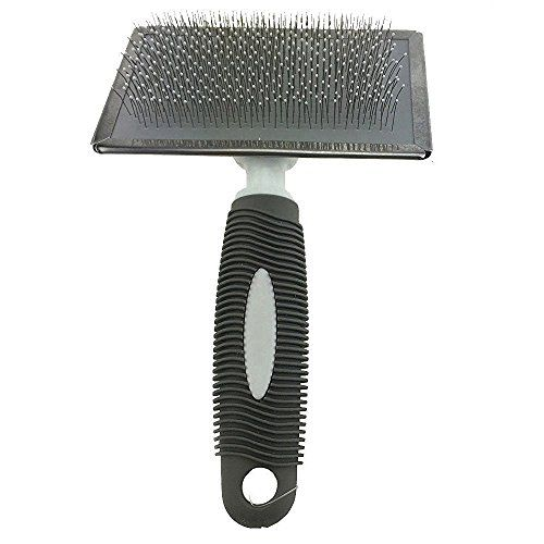 lxlp stainless steel pet dog cat shedding comb and grooming comb with different spaced rounded teeth