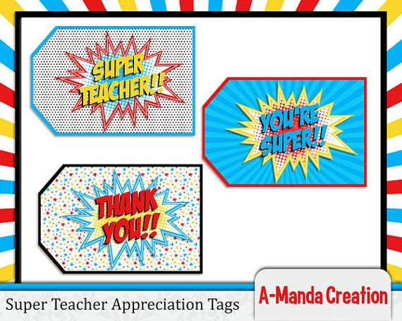 Popular 51 best Superhero Teacher Appreciation Week images on Pinterest  OH44