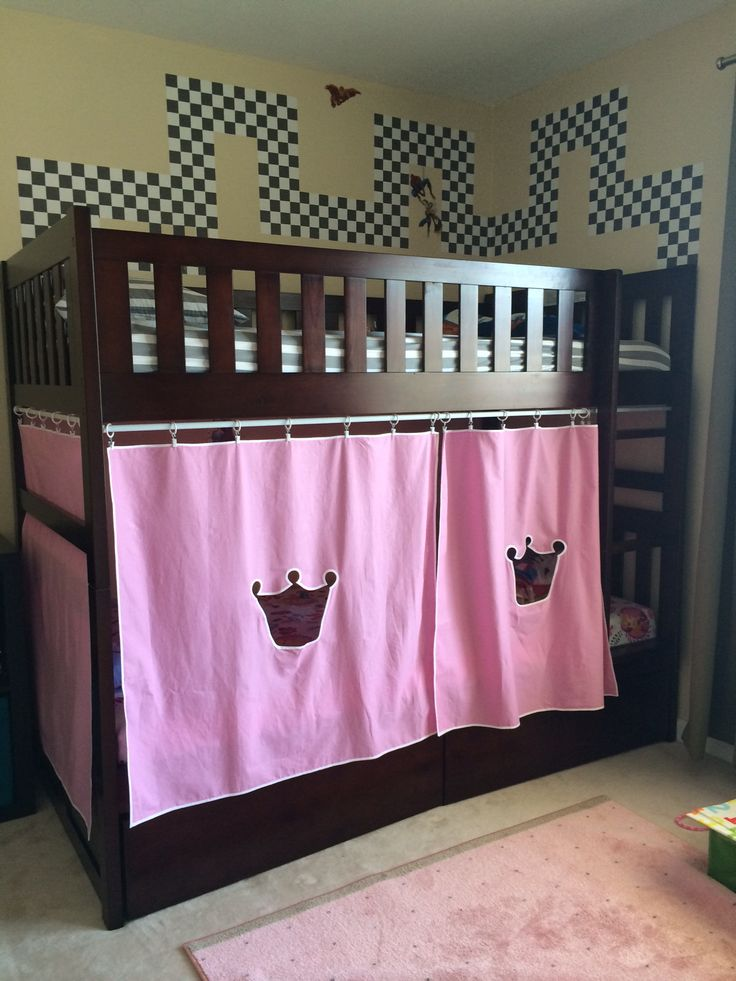 DIY Castle bunk bed for my little prince and princess. No ...