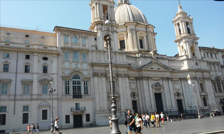 A view on the other side of piazza Navona in Rome.