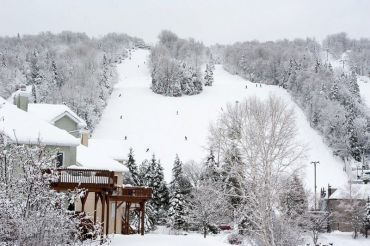 Wayne and I lived here...Mont Saint-Sauveur, Canada
