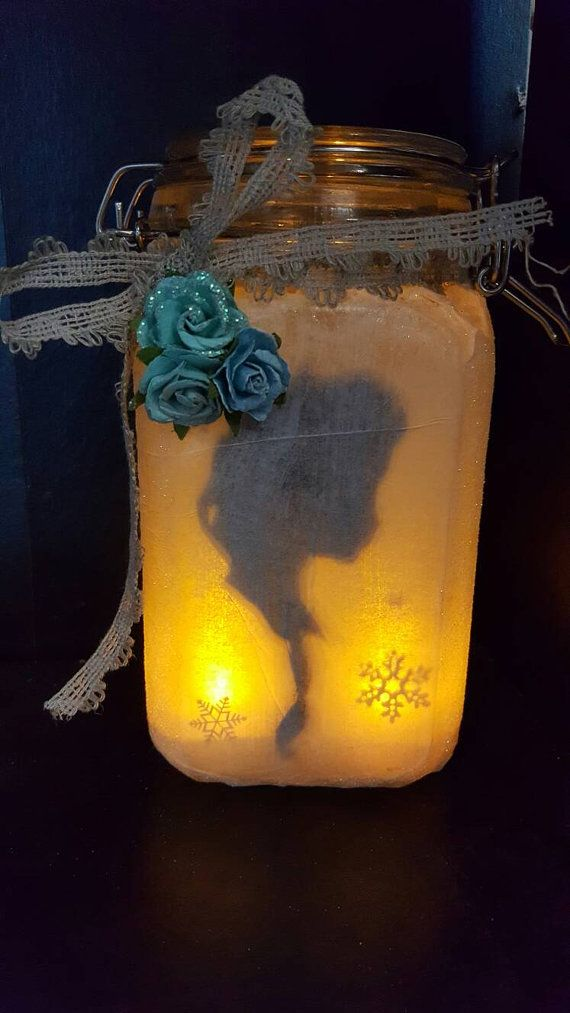 Check out this item in my Etsy shop https://www.etsy.com/listing/387346310/anaelsa-silhouette-lantern-jar