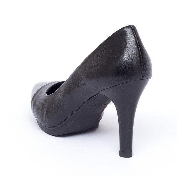 Zapato salón mujer tacón color gris negro cómodo - Comfort women's shoes pump heel black- miMaO Fashion Night Patent Leather