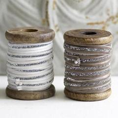 Spools of velvet ribbon