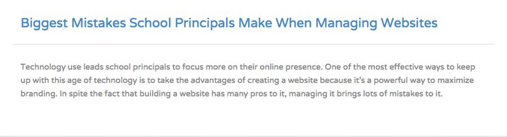 Tips on how you can manage your school website! Read more.. http://pudink.com/posts/2-biggest-mistakes-school-principals-make-when-managing-websites