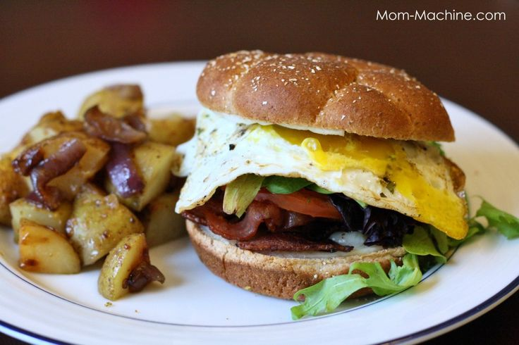 Bacon, Egg and Cheese Brunchwich ... not your average breakfast ...
