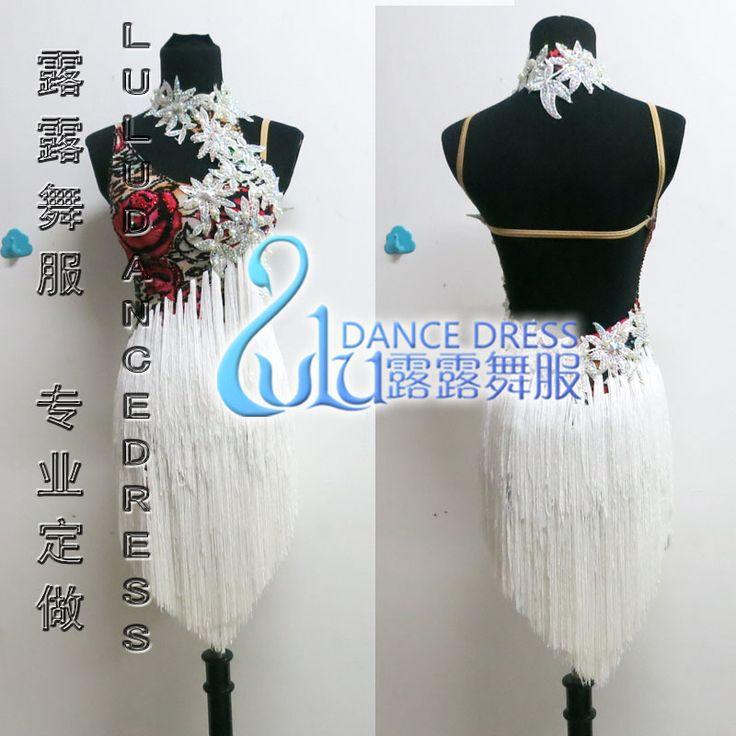 Бахрома сальса платье танго самба румба чача платье, Латинский танец платье для